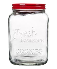 Loving this Red 'Homemade Cookies' Jar on #zulily! #zulilyfinds