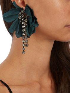 Lanvin Floral-embellished earrings