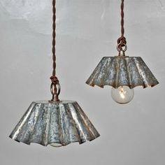 luces con moldes de laton
