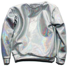 Chain Candy Fall Collection of Handcrafted luxury silver holographic fabric made into a long sleeve top. Fits as a oversized sweater with thin fabric. So it's not as warm as a sweatshirt, but fi Holographic Shirt, Holographic Fabric, Holographic Fashion, Sweater Weather, Visual Kei, Long Sleeve Tops, Long Sleeve Shirts, Grunge, Casual