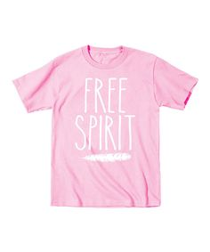 Look at this Light Pink 'Free Spirit' Tee - Toddler