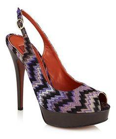 f60262f42373f5 Peep toe heels in purple by Missoni on secretsales.com £49