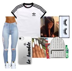 Photoshoot❤️ by melaninprinces on Polyvore featuring polyvore, fashion, style, adidas, MCM, Casetify, Huda Beauty, adidas Originals, clothing and fashiontrend