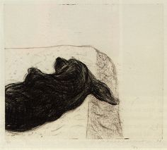 David Hockney, Dog Wall (8)' Etching, 1998.