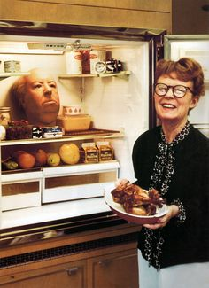 Alma Hitchcock. Alfred's head in the fridge. She was his right and left hands