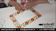 """means """"forests of honey"""". It is a divine art that originated from Madhubani district of Mithila region of Bihar, India. In this video, we have shown the frame work of Madhubani Art. Contact Pallavi Samant Desai - 99674 55588 for details www. Madhubani Art, Madhubani Painting, Photo Frame Design, India Painting, Relaxing Art, Indian Art Paintings, Indian Folk Art, Krishna Art, Art N Craft"""