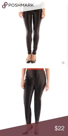 9a8003f2c30 Black faux leather Worthington Leggings NWT Black faux leather Worthington  Leggings Worthington Pants Leggings Worthington Pants