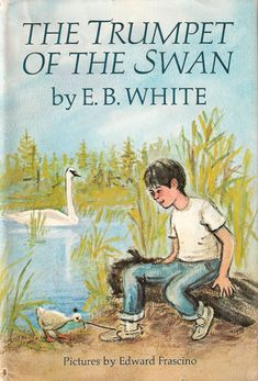 The Trumpet Of the Swan by E.B. White is about a little cygnet named Louise who is born without a voice. Louise's father (who has a beautiful voice) notices and worries. As Louise gets older this becomes a problem and so his father decides to get his son a trumpet. In order to pay-off his father's debt and to win the girl of his dreams, Louise uses his talent with his trumpet to win money and gain fame. A good book for ages eight and up.