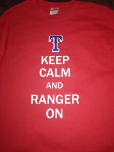 Rangers baseball tshirt by SewCr8tivechic on Etsy, $24.00