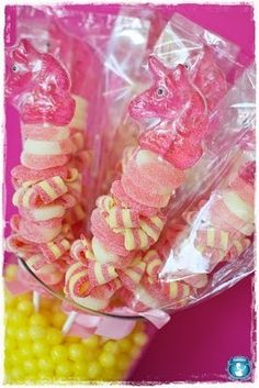 Party favor idea -candy skewers!