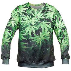 cool Weed Shirt Marijuana Clothing Sweater Sweatshirt For Men Women (XL)