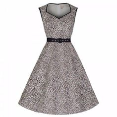 LINDY BOP 'Xandra' Leopard Print 1950's Vintage Style Swing Dress