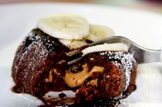 Raw Chocolate Peanut Butter Molten Cake