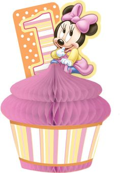 This item is sold by cases of: items. This is an officially licensed Disney product. Minnie Mouse Decorations, Minnie Mouse Party, Mouse Parties, First Birthday Parties, First Birthdays, 1st Birthday Centerpieces, Scrap, Cute Babies, Disney