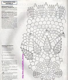 Foto Crochet Doily Diagram, Crochet Doily Patterns, Crochet Mandala, Crochet Chart, Thread Crochet, Filet Crochet, Crochet Motif, Crochet Stitches, Crochet Home
