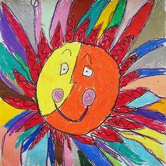 Sun in pastel