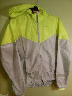 21632a75f5f4 Nike Womens Vapor Jacket Full Zip Size XS Gray Grey  Yellow Green 079  545908 New