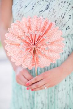 Pretty Paper Details | #Fan | See the wedding on #SMP: http://www.stylemepretty.com/2013/07/12/austin-wedding-from-sharon-nicole-photography/  Sharon Nicole Photography