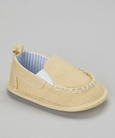 Take a look at this Tan Moccasin by Stepping Stones on #zulily today!
