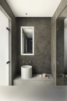 Cheyne Place by MWAI #bathroom #grey #design #interiors #tile #concrete