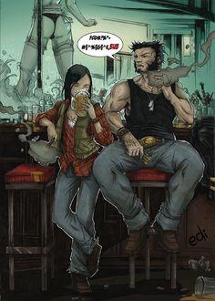 Wolverine raising X23 by Nolife-Edi.deviantart.com