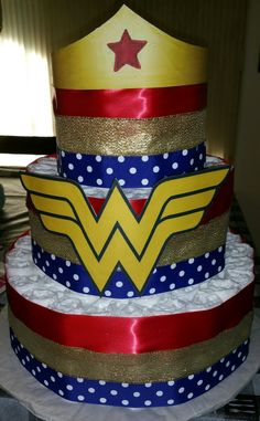 Wonder Woman Diaper Cake