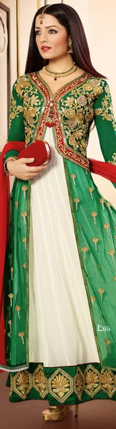 Laya Should you be anything at all like us, you will understand that it's Anarkali Churidar, Salwar Kameez, Anarkali Suits, India Fashion, Ethnic Fashion, Pakistani Outfits, Indian Outfits, Bridal Corner, Desi Wear