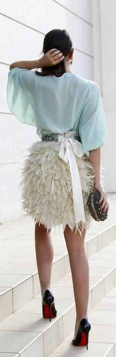 Feathers and Louboutins