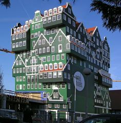 Inntel Hotel, Zaandam: A History of Dutch Domestic Architecture in One Building, Designed by Wilfried van Winden.