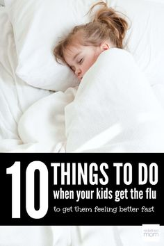 When the flu hits, you go into Mama Bear Mode and do EVERYTHING in your power to get your kiddo feeling better fast. (Because NO ONE has time for a sick kiddo or husband - and let's be honest, sick duty usually falls on the mamas.) Here are 10 Things To D Sick Toddler, Sick Kids, Healthy Kids, Get Healthy, Healthy Living, Getting Over The Flu, Flu B, How To Treat Flu, Flu Food