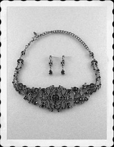 'Midnight Dreams  EP Gunmetal  Necklace and Earrings' is going up for auction at  3am Wed, Feb 13 with a starting bid of $13.