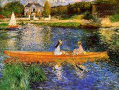 The Seine at Asnieres - the skiff - 1879 Renoir