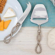 Know Your Ropes Cheese Plane  Knife Set TW8590