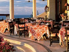 Fine dining at The Restaurant, Las Ventanas, Los Cabos