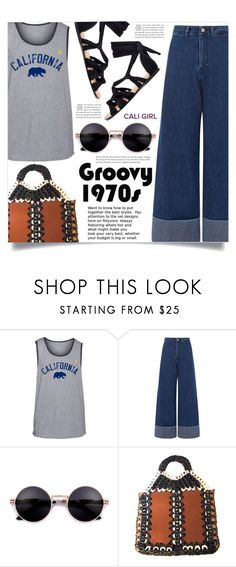 """1970's"" by dolly-valkyrie ❤ liked on Polyvore featuring Hurley and Sea, New York"