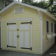 Custom Gable Storage Shed To Complement A Craftsman Bungalow Residence In  Tampa, FL Add These Doors In Existing Model T Garage