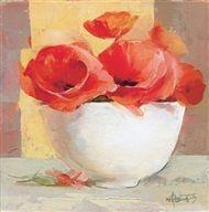 Willem  Haenraets - Floral in red I