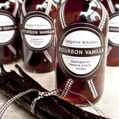 Homemade Vanilla Extract - mom would make this all the time. Another homemade Christmas gift idea.
