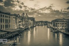 Venice in Mono - Long Exposure by vaiphonic  venice2015 canal clouds dawn europe italia italy long exposure veneto venezia venice vaiphonic