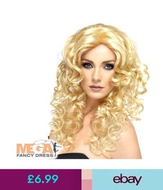 Fancy Dress Ladies She-Ra 80S Wig Fancy Dress Blonde Glamour Curly Costume 1980S Wig #ebay #Fashion