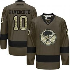 a0405371a Sabres  10 Dale Hawerchuk Green Salute to Service Stitched NHL Jersey Nhl  Jerseys
