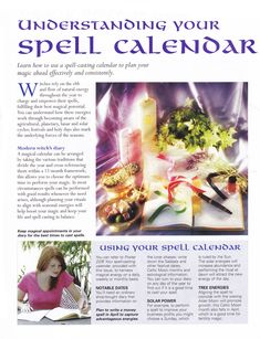 Understanding your spell calendar - Pinned by The Mystic's Emporium on Etsy