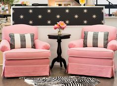 sugar paper studio pink arm chairs