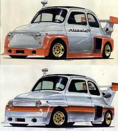 70's sketches of a Fiat Gruppe 5