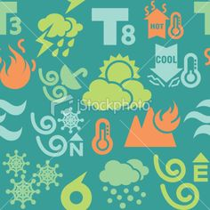 Weather Icons in Seamless Background Royalty Free Stock Vector Art Illustration Weather Icons, Seamless Background, Vector Art, Royalty, Illustration Art, Free, Royals