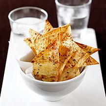 Baked mountain bread chips
