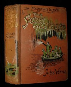 1906 Rare Illustrated Book - The Secret of the Island by Jules Verne – MFLIBRA - Antique Books