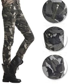 Get Cheap Army Fatigue Cargo Pants For Girls
