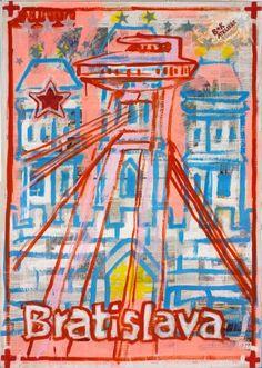 "Saatchi Art Artist Borai Kahne Ateliers; Painting, ""European Capital Cities - Bratislava"" #art"