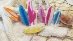 Items similar to Surf board Clay Charms! on Etsy Hawaiian Theme, Surf Board, Clay Charms, Surfing, Jewelry Design, Charmed, Sweet, Etsy, Surf